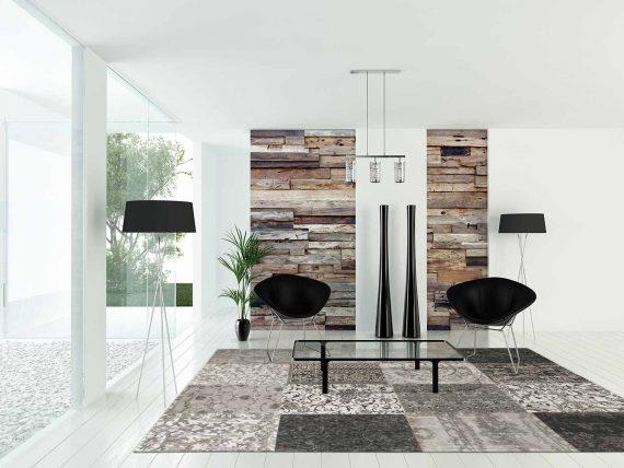 tapijt Louis De Poortere PT8101 Vintage Black White interior 2