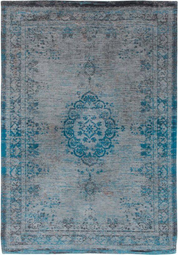 tapijt Louis De Poortere PT8255 Fading World Medaillon Grey Turquoise