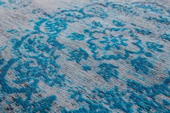 tapijt Louis De Poortere PT8255 Fading World Medaillon Grey Turquoise zoom