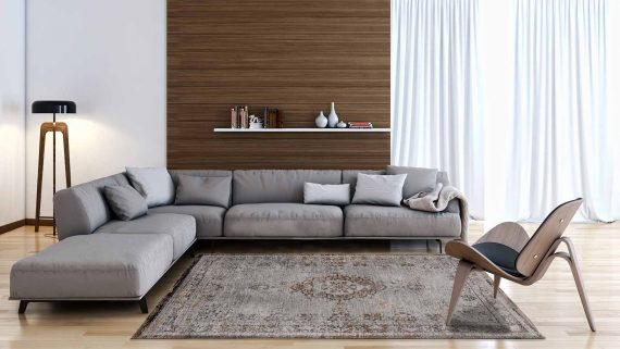 tapijt Louis De Poortere PT8257 Fading World Medaillon Grey Ebony interior