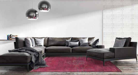 tapijt Louis De Poortere PT8260 Fading World Medaillon Scarlet interior