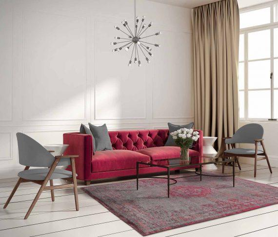 tapijt Louis De Poortere PT8261 Fading World Medaillon Pink Flash interior 2