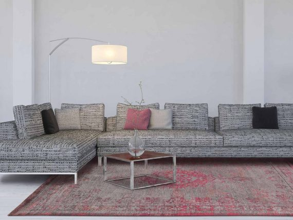 tapijt Louis De Poortere PT8261 Fading World Medaillon Pink Flash interior
