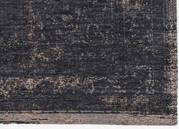 tapijt Louis De Poortere PT8263 Fading World Medaillon Mineral Black corner