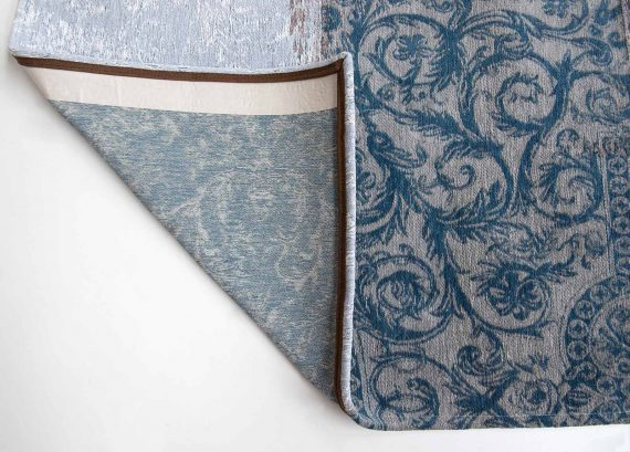 tapijt Louis De Poortere PT8981 Vintage Bruges Blue corner