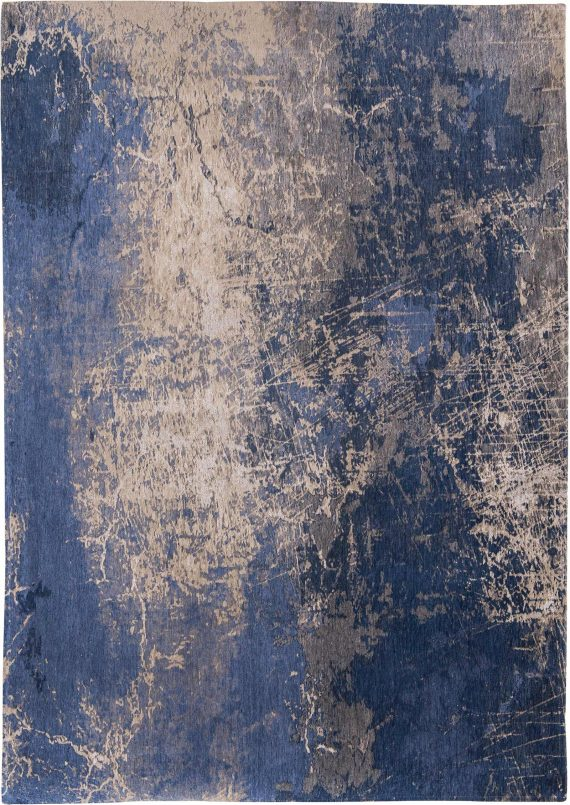 tapijt Louis De Poortere PT8629 Mad Men Cracks Abyss Blue