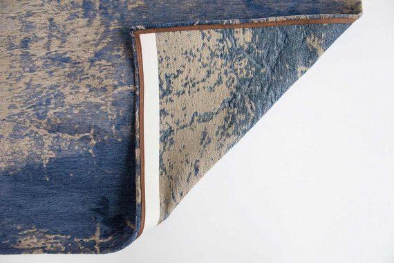 tapijt Louis De Poortere PT8629 Mad Men Cracks Abyss Blue back