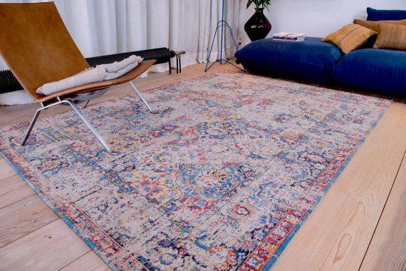 tapijt Louis De Poortere PT8713 Antiquarian Antique Bakthiari Khedive Multi interior