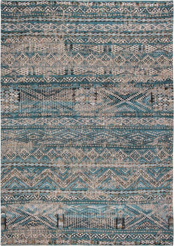 Louis De Poortere tapijt PT 9110 Antiquarian Kilim Zemmuri Blue