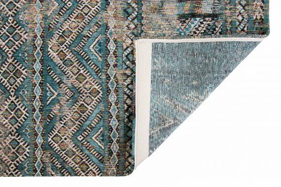 Louis De Poortere tapijt PT 9110 Antiquarian Kilim Zemmuri Blue back