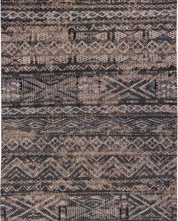 Louis De Poortere tapijt PT 9113 Antiquarian Kilim Black Rabat