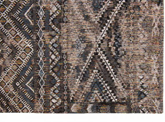 Louis De Poortere tapijt PT 9113 Antiquarian Kilim Black Rabat corner
