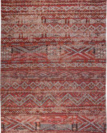 Louis De Poortere tapijt PT 9115 Antiquarian Kilim Fez Red