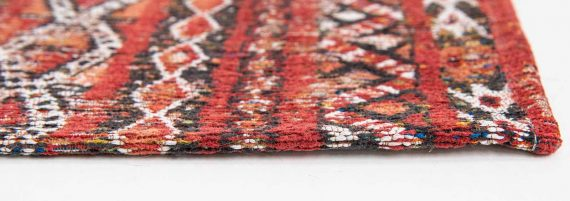 Louis De Poortere tapijt PT 9115 Antiquarian Kilim Fez Red side