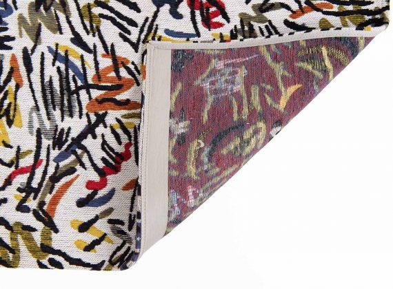 Louis De Poortere tapijt PT 9144 Gallery Graffito Street Graph back