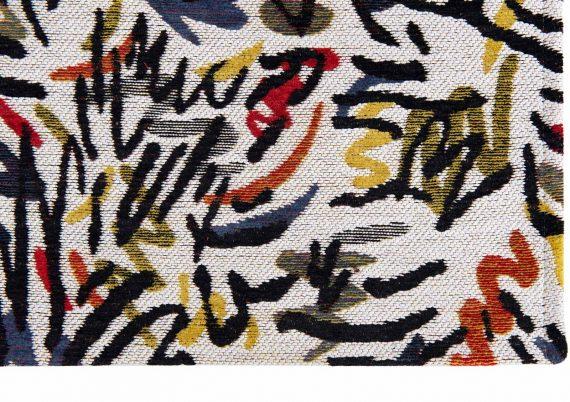 Louis De Poortere tapijt PT 9144 Gallery Graffito Street Graph corner