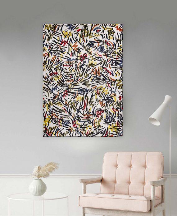 Louis De Poortere tapijt PT 9144 Gallery Graffito Street Graph interior