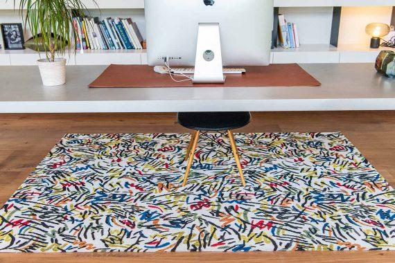 Louis De Poortere tapijt PT 9144 Gallery Graffito Street Graph interior 7